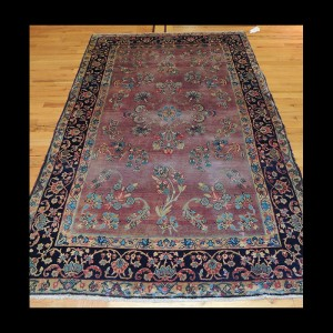 Extremely Fine Antique Persian Lavar Kerman Rug 5 x 7
