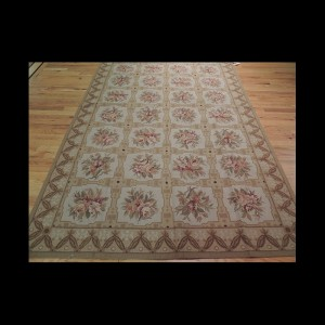 French Aubusson Design Needlepoint Oriental Area Rug 5 x 8