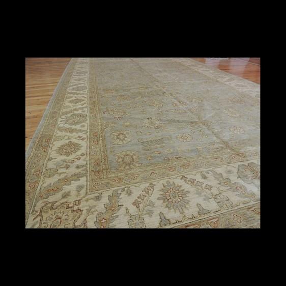 Unusual/odd size Oversize/Palace size extra-fine Peshawar Vegetable Dye Oriental Area Rug 8 x 18