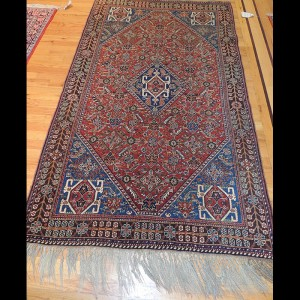 Gorgeous Antique Persian Ghashghaei Rug 4 x 6