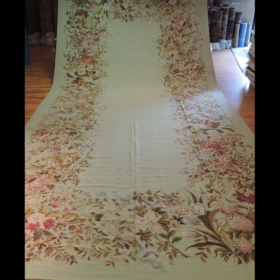 One-of-kind Palace size French Aubusson Design 12 x 26 Custom-Made Oriental Area Rug
