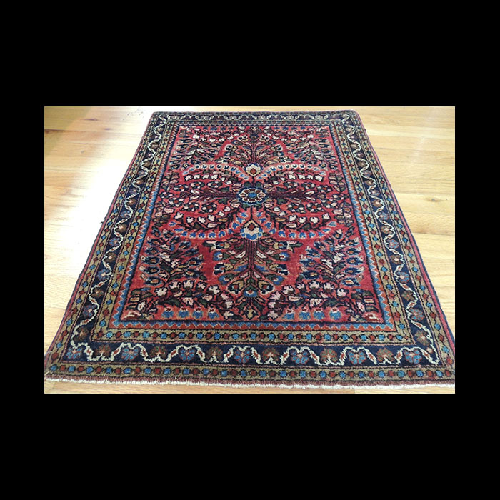 Splendid Small Antique Persian Sarough Square Oriental Area Rug 2 X