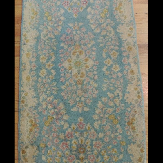 Lovely small Antique Persian Kerman Oriental Area Rug 2 x 4