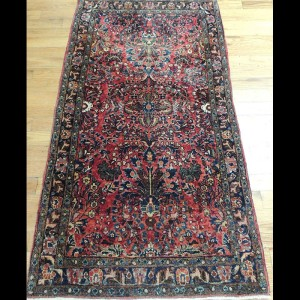 Wonderful small Antique Persian Sarough Oriental Area Rug 2 x 4