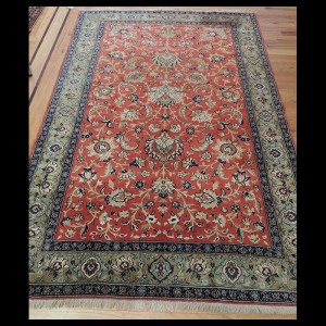 Striking Antique Persian Qum Rug 4 x 6