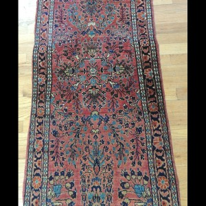 Beautiful small Antique Persian Sarough Oriental Area Rug 2 x 4