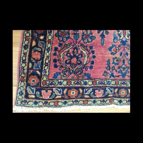 Beautiful small Antique Persian Sarough Oriental Area Rug 2 x 4