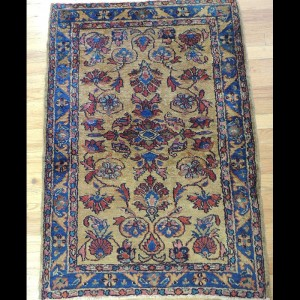 Lovely small Antique Persian Lilihan Oriental Area Rug 2 x 4