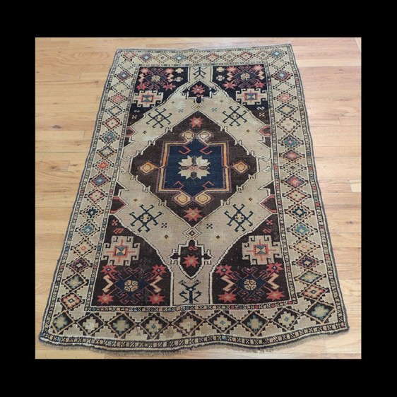 Lovely small semi-antique Caucasian Kazak Oriental Area Rug 3 x 5