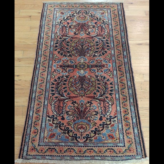Dazzling small Antique Persian Sarough Oriental Area Rug 2 x 4