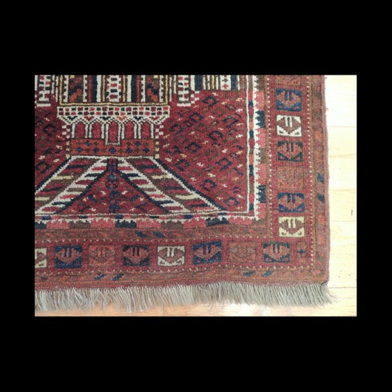 Wonderful Antique Turkish Prayer Rug Oriental Area Rug 2 x 4