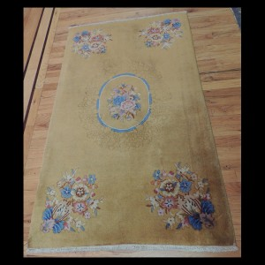 Superb Antique Art Deco Chinese Oriental Area Rug 3 x 5