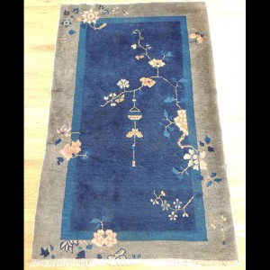 Lovely Antique Art Deco Chinese Oriental Area Rug 3 x 5