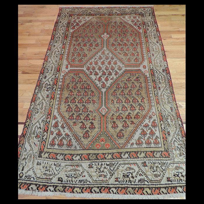 Wonderful Small Antique Persian Tribal Oriental Area Rug 4 X 6 Jk