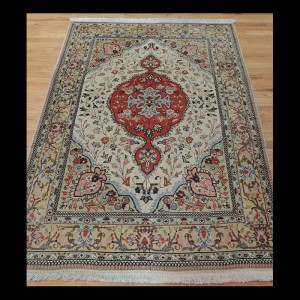 Outstanding Antique Persian Tabriz Oriental Area Rug 4 x 6