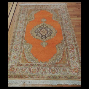 Magnificent Antique Turkish Oriental Area Rug 4 x 6