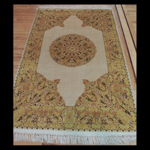 Striking semi-antique Transitional Oriental Area Rug 4 x 6