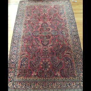 Beautiful Antique Persian Sarough Oriental Area Rug 4 x 6
