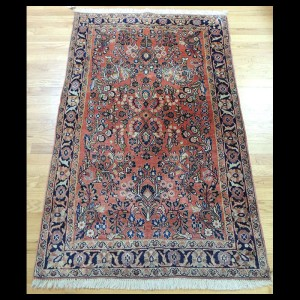 Lovely small Antique Persian Sarough Oriental Area Rug 3 x 5