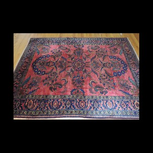 Rare and unusual design Antique Persian Lilihan Oriental Area Rug 5 x 7