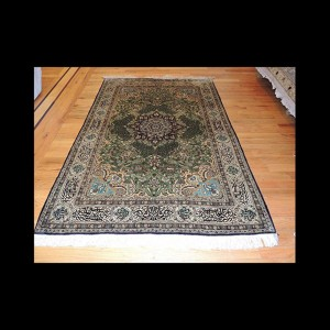 Magnificent Antique Persian Qum Silk Rug 3 x 5