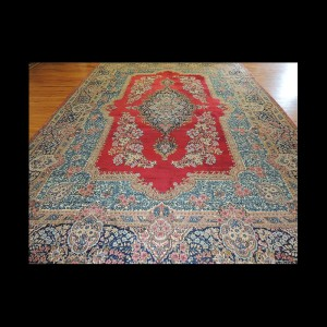 Spectacular Antique Persian Kerman Oriental Area Rug 10 x 14