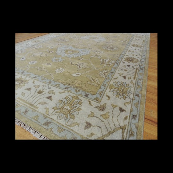 Fabulous Antique-Wash Vegetable Dye Oushak Oriental Area Rug 6 x 9