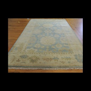 Antique-Wash Vegetable Dye Oushak Oriental Area Rug/Carpet 6 x 9