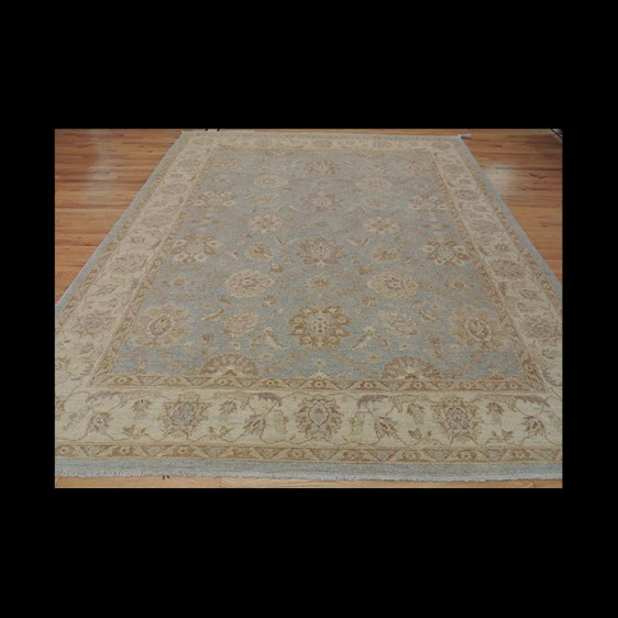 Splendid Antique-Wash Vegetable Dye Peshawar Oriental Area Rug 8 x 10