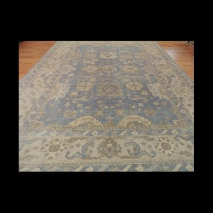 Gorgeous Antique-Wash Vegetable Dye Oushak Oriental Area Rug 10 x 14