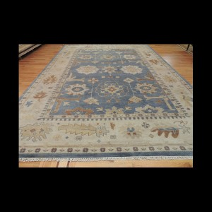 Stunning Antique-Wash Vegetable Dye Oushak Oriental Area Rug 10 x 14