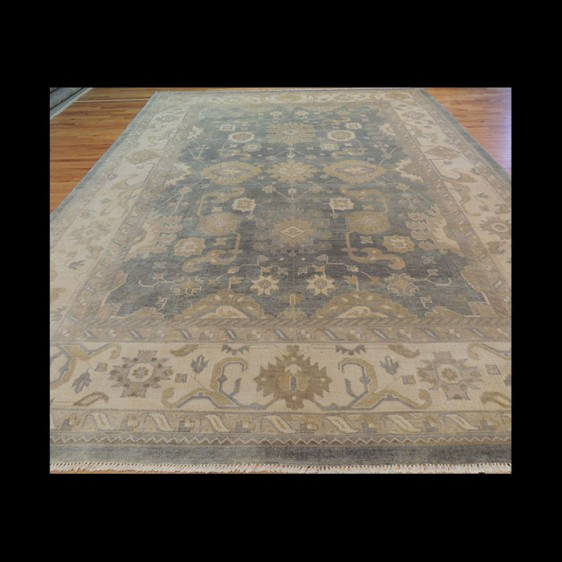 Lovely Antique-Wash Vegetable Dye Oushak Oriental Area Rug/Carpet 10 x 14