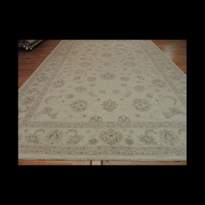 Beautiful Antique-Wash Vegetable Dye Peshawar Oriental Area Rug 10 x 14