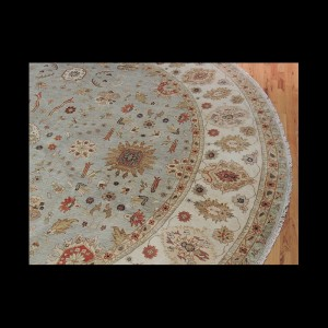 Beautiful Round Peshawar Oriental Area Rug 12 x 12