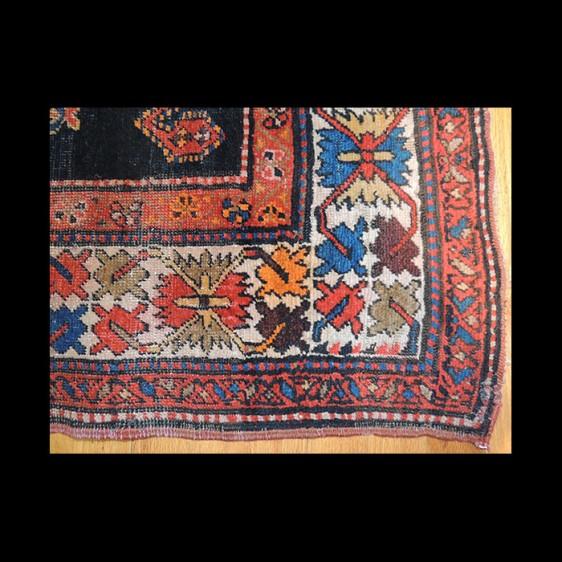 Outstanding Antique Caucasian Design Kazak Rug 3 x 8