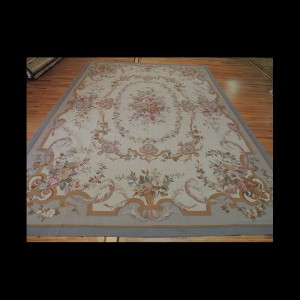 Lovely Large French Aubusson Style Oriental Area Rug 10 x 14