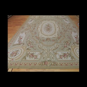 Striking Large French Aubusson Style Oriental Area Rug 10 x 14