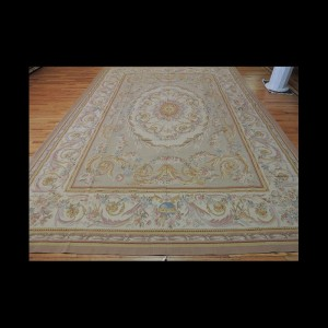 Magnificent Large French Savonnerie Aubusson Style Oriental Area Rug 10 x 14
