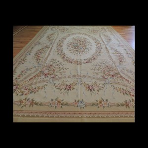 Brilliant Large French Aubusson Style Oriental Area Rug 10 x 14