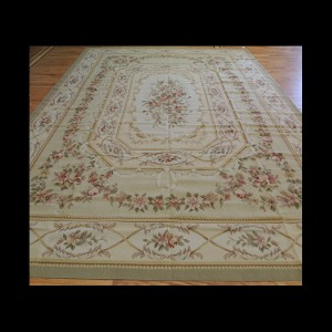 Elegant Large French Aubusson Style Oriental Area Rug 10 x 14