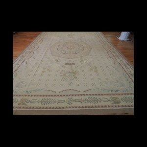 Large French Aubusson Style Oriental Area Rug 10 x 14