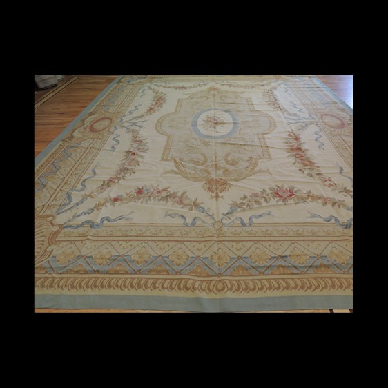 Lovely Oversize/Palace French Aubusson Style Oriental Area Rug 12 x 15