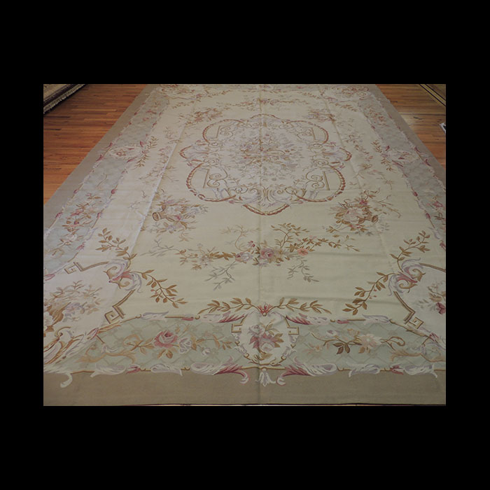 Superb Oversize Palace French Aubusson Style Oriental Area Rug 11 X