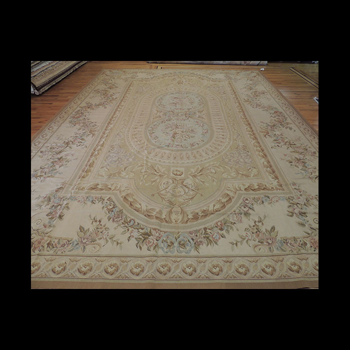 Attractive Oversize Palace French Aubusson Style Oriental Area Rug