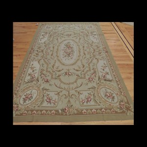 Striking French Aubusson Style Oriental Area Rug 6 x 9