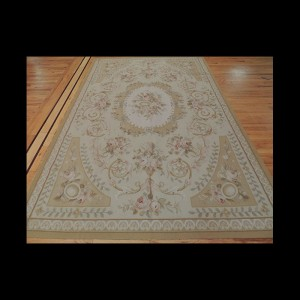 French Aubusson Style Oriental Area Rug 6 x 9
