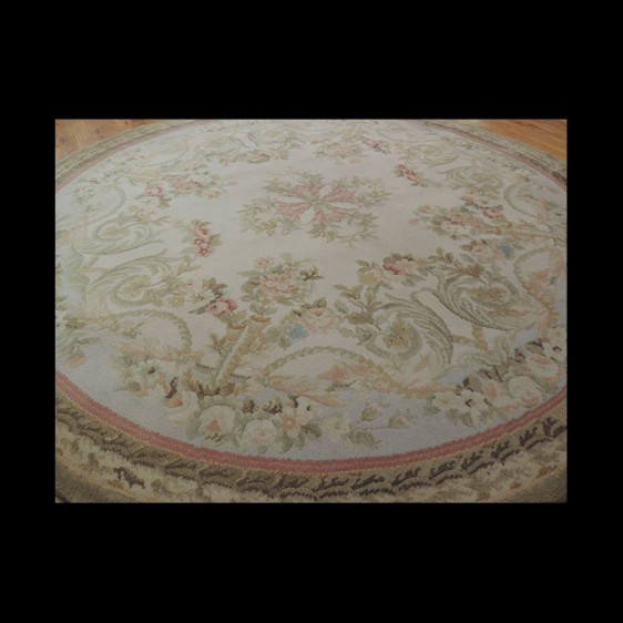 Magnificent Round French Savonnerie Oriental Area Rug 6 x 6