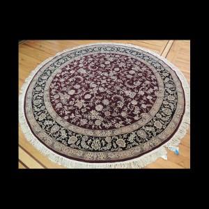 Stunning Round Persian Tabriz Fish (Mahi) Oriental Area Rug 8 x 8