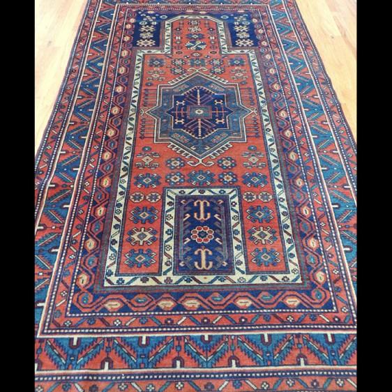 Magnificent RARE Antique Russian Kazak Oriental Area Rug 4 x 6
