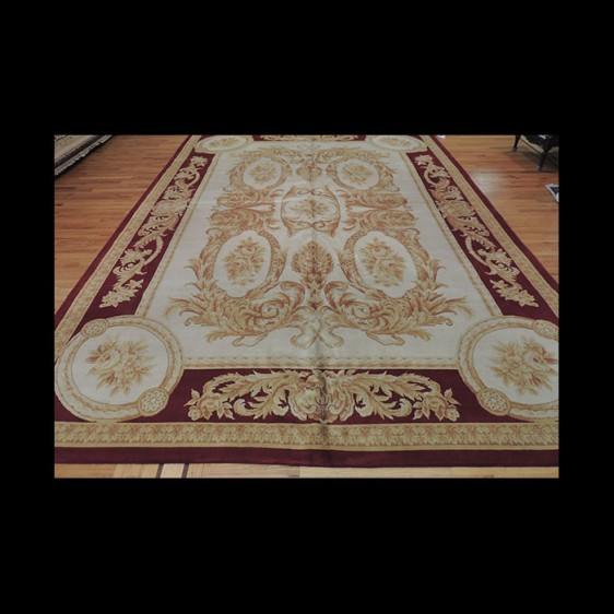 Striking Unique French Savonnerie Oriental Area Rug 10 x 14